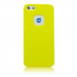 Θήκη iPhone 5/5s Momax Ultra Tough Soft case-Yellow
