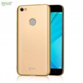 Θήκη Xiaomi Redmi Note 5A Prime/ Redmi Y1 LENUO Silky Touch Hard Case-gold